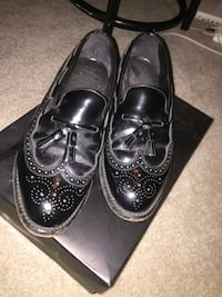black leather wingtip dress shoes Raleigh, 27612
