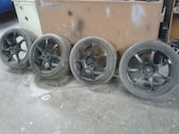 Concept 7 car race wheels with nitto tires