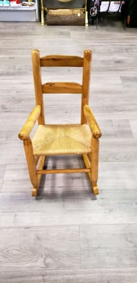 Childs Oak Rush Seat Rocking Chair  Middletown, 10940