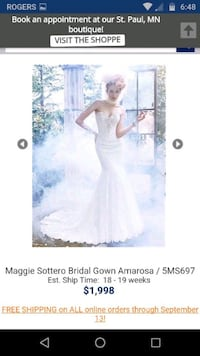 Maggie Sottero Couture Wedding Dress Toronto
