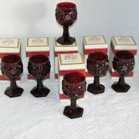 "6 AVON CAPE COD WINE GLASSES 4 1/2"" Candle Holders Mississauga"