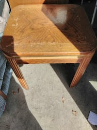square brown wooden side tables
