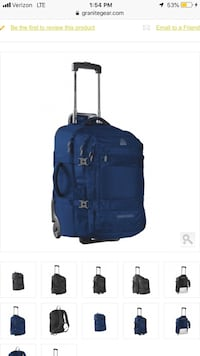 BRAND NEW, never before used Granite Gear Suitcase normally $209! Los Angeles, 91602