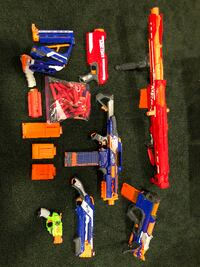 The Ultimate NERF GUN lot. Manuel/Auto. Some ammo and attachments Included Harrison