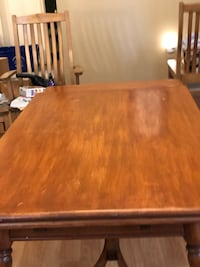 rectangular brown wooden dining table 42 km