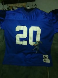 blue and white NFL 20 jersey