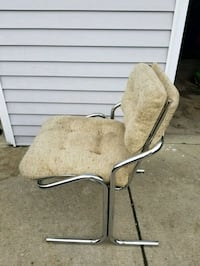brown wooden framed beige padded armchair Cleveland, 44111