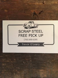 free scrap pick up or truck, trailer and guy for hire