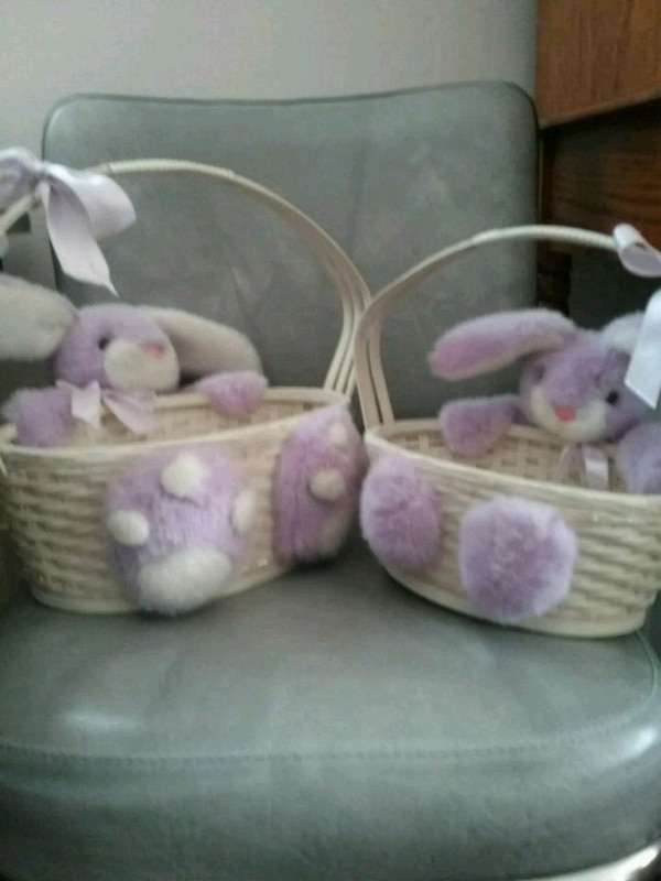 STOLEN @ YARD SALE: Rabbits Wicker Easter baskets