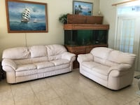 white leather 3-seat sofa and loveseat Fruitland Park, 34731