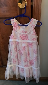 white and pink floral sleeveless dress Derry, 03038