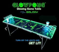 Glow in the dark Beerpong table