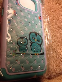 Samsung S7 Edge 2 Owls in Tree with Crystals Phone Case Brand New seal Bridgeport, 06605