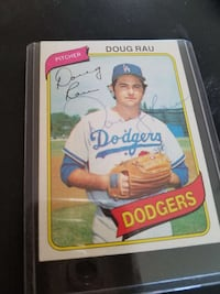 Doug rau signature trading card
