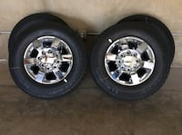 chrome 5-spoke vehicle wheel and tire set 2329 mi