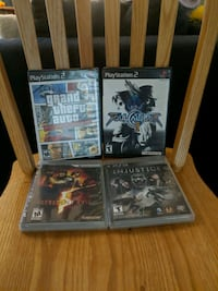4 PS2 and PS3 game lot for sale Mississauga, L5A 4C1