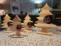 Wooden handmade Christmas trees