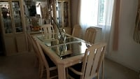rectangular white wooden table with six chairs dining set Vineland, 08360