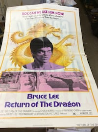 Bruce Lee Return of the Dragon original movie poster 1974 27x40 . Collectible 74x236 . 51 mi