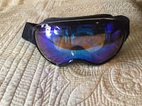 blue and black framed sunglasses