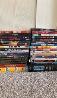 Assorted DVD and Blu rays