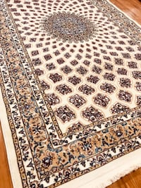 Brand new ivory area rug size 5x8 nice Persian design carpet rugs 32 km