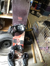 5150 Snowboard and boots