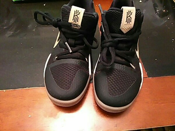 c356c2dbcbe pair of black-and-white Kyrie Irving basketball shoes. HomeOther used items  in ...