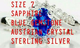 SIZE 7 BLUE SAPPHIRE RING