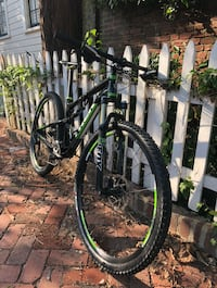 black and green hardtail mountain bike Rockville, 20852