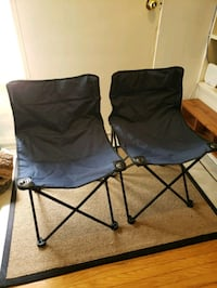 Set of 2 folding camping chairs -almost new Mississauga, L4Y 2B2