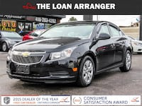 2014 chevrolet cruze lt with  93,462km and 100% approved financing