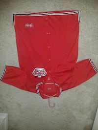 red and white Adidas jersey shirt Frederick, 21703