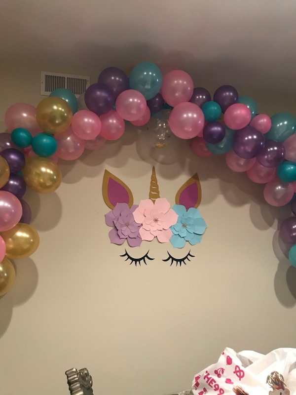 Unicorn Balloon Arch Garland And Birthday Party Decor