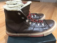Converse All Star chuck taylor brown leather winter boot size 4 Vancouver, V5M