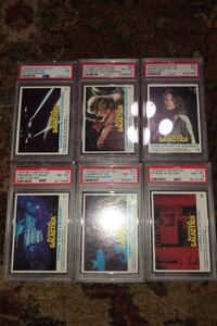 6 Graded Battlestar Galactica trading cards from 1976 PSA Graded ! Beltsville, 20705