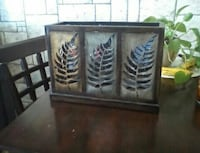 Candle holder mirror n frosted fern printed box Montreal, H2E 2B8