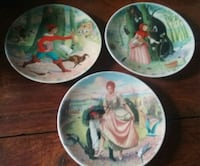 Fairytale Decorative Plates (3 of them)