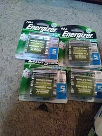 4 pack AA rechargeable energizer batteries Ypsilanti, 48198