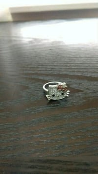 Hello Kitty 925 silver ring