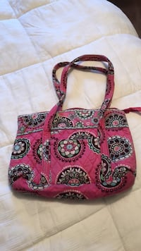 red, white, and black floral tote bag Essex, 21221