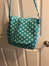 Diaper bag - blue - polka dot