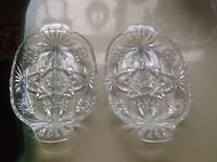 Pair of Pressed Glass sectional dish with handles Welland, L3C