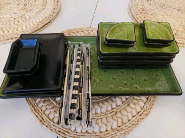 Beautiful sushi dining set