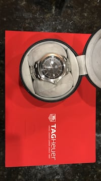 Tag heuer mens watch - link series - automatic - round silver automatic w/ black face Aldie, 20105