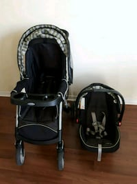baby's black and gray travel system Mississauga, L5A 2G4