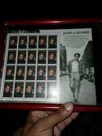 James Dean Legends of Hollywood poster with red frame Inwood