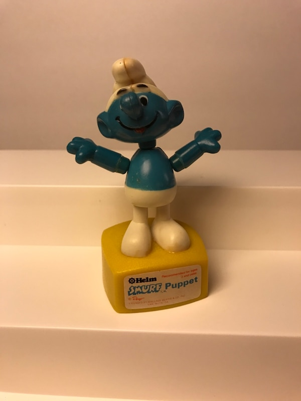 Smurfs!! vintage figure and movable puppet