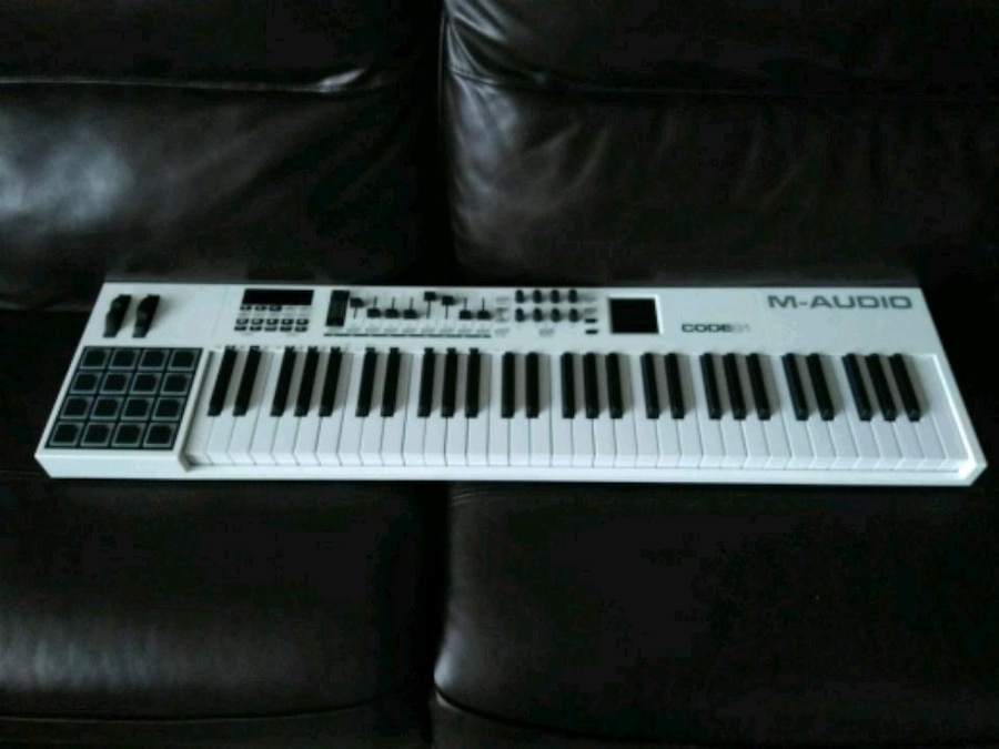 Used, white M-Audio MIDI keyboard for sale  Westfield