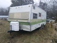 white and tan green RV trailer Indian Head, 20640